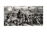 The Battle of Fleurus  26 June 1794  Engraved by Emile Deschamps