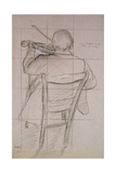 Study of a Violinist Seen from the Back  19th Century