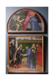 The Annunciation and the Visitation  Two Paintings Constituting an Altarpiece  1530-35