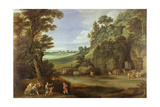 Arcadian Landscape with Satyrs and Nymphs