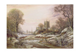 Worcester from the South West in the Snow  C1875