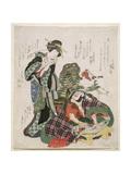 Ichikawa Danjuro and Ichikawa Monnosuke as Jagekiyo and Iwai Kumesaburo  1824