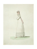 Elegant Woman in an Outdoor Dress  Illustration from 'Incroyables Et Merveilleuses'