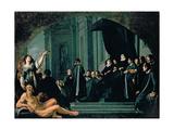 The Senators of Florence Swearing Allegiance to the Grand Duke of Tuscany  17th Century