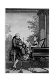 Leopold Mozart (1719-87) and His Two Children  Wolfgang Amadeus (1756-91) and Maria-Anna…