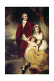 Henry  10th Earl and 1st Marquess of Exeter  His Wife Sarah and Daughter Lady Sophia Cecil