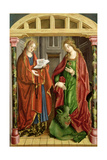 Two Female Saints  Possibly St Mary Magdalene and St Martha