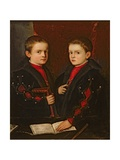 Portrait of Gerolamo Melchiorre (B1536) and His Brother Francesco Santo Da Pesaro (B1537)  C1544