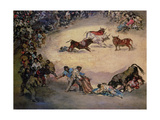 Scene at a Bullfight: Spanish Entertainment  18th Century