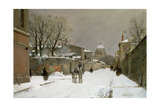 Winter Scene Near Les Invalides  Paris