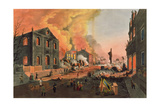 View of the Ruins after the The Great Fire in New York  December 16th-17th 1835  Engraved by WI…