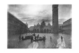 View of Flooded Piazza S Marco 1880-1920