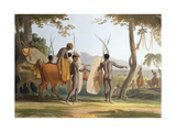 Kaffers on a March  Plate 5 from 'African Scenery and Animals'  Engraved by the Artist  1804