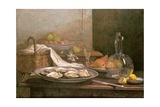 Still Life with Oysters  C1850