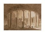 Interior of the Temple of Claudius in Rome  C1800