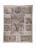 Quos Ego  Neptune Calming the Storm  with Borders Showing Further Scenes from Virgil's 'Aeneid' …