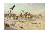 The Flight of the Khalifa after His Defeat at the Battle of Omdurman  2nd September 1898  1899