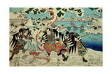 The 'Chushingura' (The Story of the Forty Seven Ronin - Masterless Samurai); a Scene from Act II…