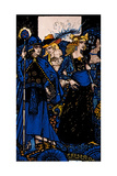 """The Queens of Sheba  Meath and Connaught"" Illustration by Harry Clarke from 'Queens' by JM Synge"