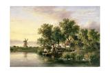 A Sunlit Norfolk River Landscape