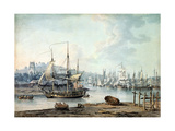 Towing a Warship Out of Bristol Harbour  1783