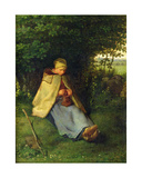 A Knitter or a Seated Shepherdess Knitting  1858-60
