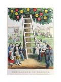 The Ladder of Fortune  Pub by Currier and Ives  New York  1875