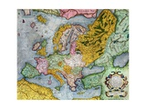 Mercator Atlas  Europe in the 1590s