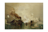 The 'Monitor' and the 'Merrimac'  the First Fight Between Ironclads in 1862  Pub by Louis Prang…