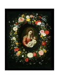 Madonna and Child Surrounded by a Garland of Flowers