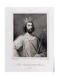 Louis VII the 'Younger' King of France (C1120-80) Engraved by Pannier