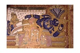 Wall Painting of the God Vishnu Resting on a Snake