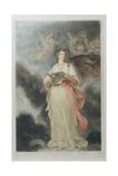 Elizabeth Billington (1768-1818) as St Cecilia  Engraved by James Ward (1769-1859)  1803