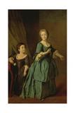 Portrait of Feodosia Rzhevskaya (1760-95) and Nastasia Davydova (B1764) 1772