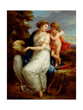 Erato  the Muse of Lyric Poetry with a Putto