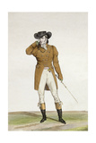 A Dandy Dressed in a Boat-Shaped Hat  a Dun-Coloured Jacket and Buckskin Breeches  Plate 1 from…