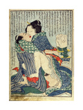 Lovers Seated with a Plant in the Background From 'Manpoku Wago-Jin'  1821