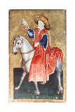 A Mounted Falconer  One of a Set of Playing Cards Depicting Scenes of Courtly Hawking  Upper…