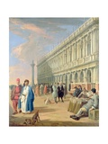 Venice: the Piazzetta with Figures  18th Century