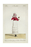 A Lady in a Levantine Hat  a Tiered Skirt and a Velvet Jacket  Plate 6 from the 'Incroyable Et…