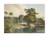 Near Bandell on the River Hoogly  Plate Viii from Part 6 of 'Oriental Scenery'  Pub 1804