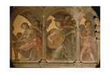 Musical Angels Within a Trompe L'Oeil Cloister  from the Interior West Facade