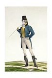 A Dandy in a Robinson Hat  with Childlike Curls  Knitted Trousers  and Riding Boots  Plate 5 in…