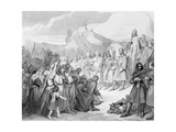Charlemagne Receives the Surrender of Witikind (Sic) at Paderborn in 785  Engraved by Joubert