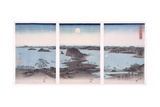 Panorama of Views of Kanazawa under Full Moon  from the Series 'snow  Moon and Flowers'  1857