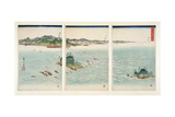 The Rapids of Naruto in Awa Province  from the Series 'snow  Moon and Flowers'  1857