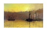 Nightfall in Scarborough Harbour  1884