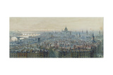 Panorama of London from the Top of the Monument  Looking West  1848