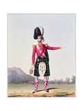 "An Officer of the 92nd Highland Regiment of Foot from Spooner's Upright Series of ""Costume of the…"