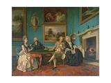 The Dutton Family in the Drawing Room of Sherborne Park  Gloucestershire  C1774